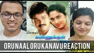 Oru Naal Oru Kanavu Song REACTION   Kannukkul Nilavu Songs   Thalapathy Vijay   RECit Reactions