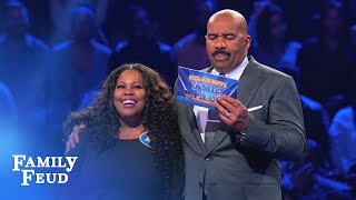 Amber & Ayana's AWESOME Fast Money! | Celebrity Family Feud