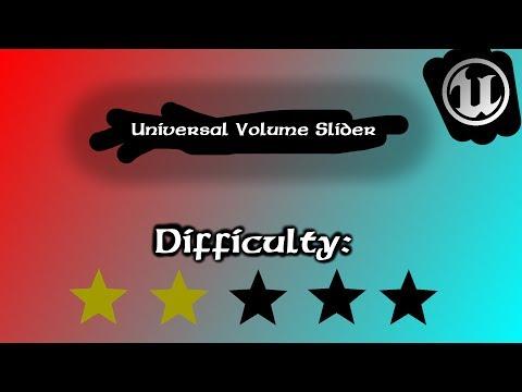 UE4 Tutorial   How to Make a Volume Slider