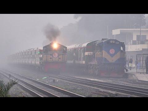 Non-stop Sonar Bangla Express lost its speed in Dense fog- Bangladesh Railway