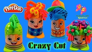 Play-Doh Crazy Cuts Hair Design Family Pack PlayDough New Toys 2015| TheChildhoodLife