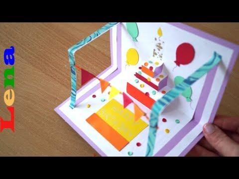 Geburtstagskarte Basteln Idee F R Eine Kreative 5
