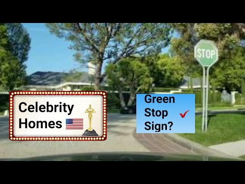 Los Angeles Driving Tour 2017: Large Celebrity Homes in the Hills and Fancy Fashion Shops