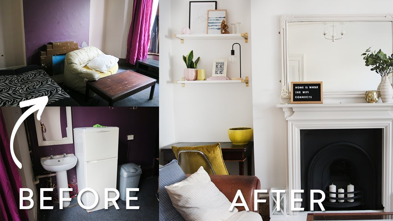 extreme diy living room makeover on a budget uk victorian home rh youtube com diy living room makeover ideas diy living room makeover ideas