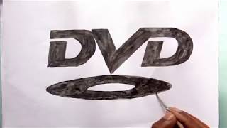How to draw the DVD logo (logo drawing)
