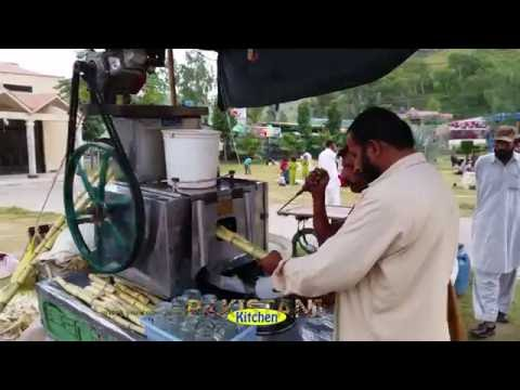 Sugarcane juice vendor in Pakistan (4K Ultra HD)