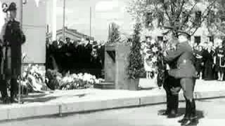Marskin patsas. Finnish Marshal baron Carl Gustaf Emil Mannerheim monument opening. 4.6.1960