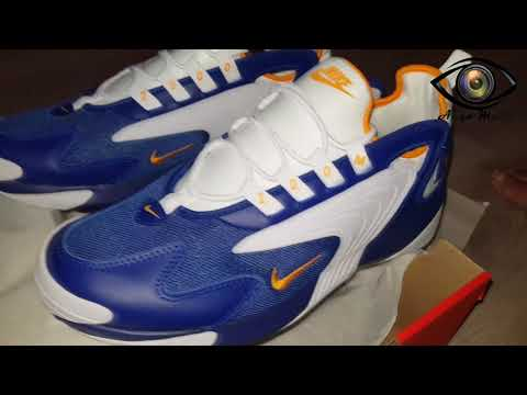 premium selection 307fa 43c21 Unboxing - Nike Sportswear ZOOM 2K Sneakers low deep royal blue orange