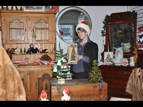viewing antique christmas decorations strathroy antique mall feather tree
