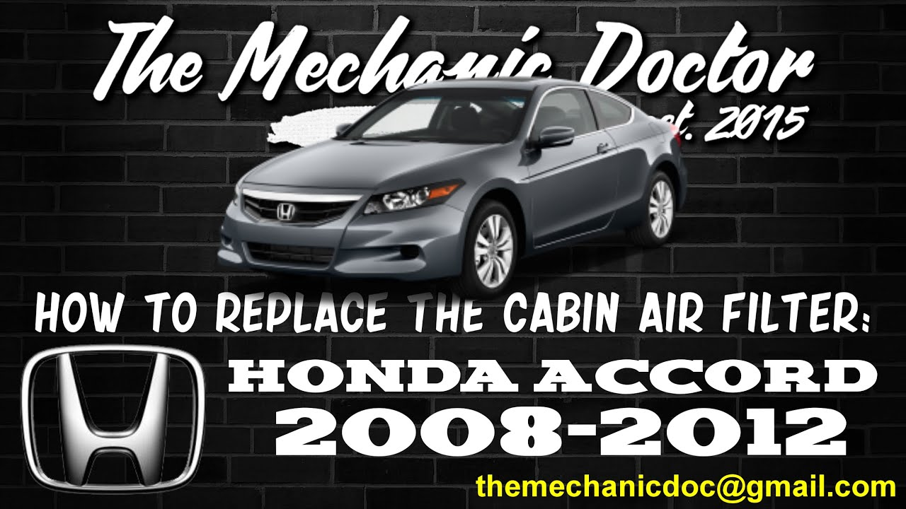 Beau How To Replace The Cabin Air Filter : Honda Accord 2008, 2009, 2010, 2011,  2012.