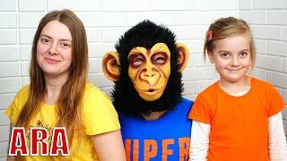 Ulya يلعب بقرد مضحك ، قصص مضحكة جديدة للأطفال حول الألعاب السحرية