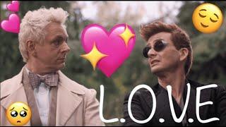 Crowley & Aziraphale    L.O.V.E.     Good Omens (ineffable husbands)