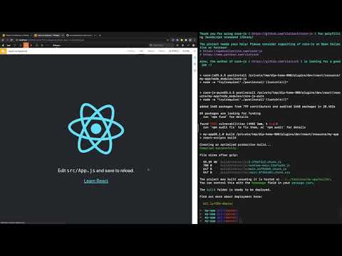 Configuring a backend for React webapp in Dataiku DSS