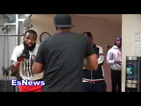 (SICK HAND Speed) Adrien Broner Last Workout Before Jessie Vargas EsNews Boxing