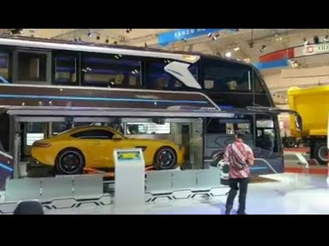 Heboh Bagasi BUS Bisa Muat MOBIL Di Indonesia Karoseri Adiputro Giias 2019 Chasis Mercedes Benz 2542