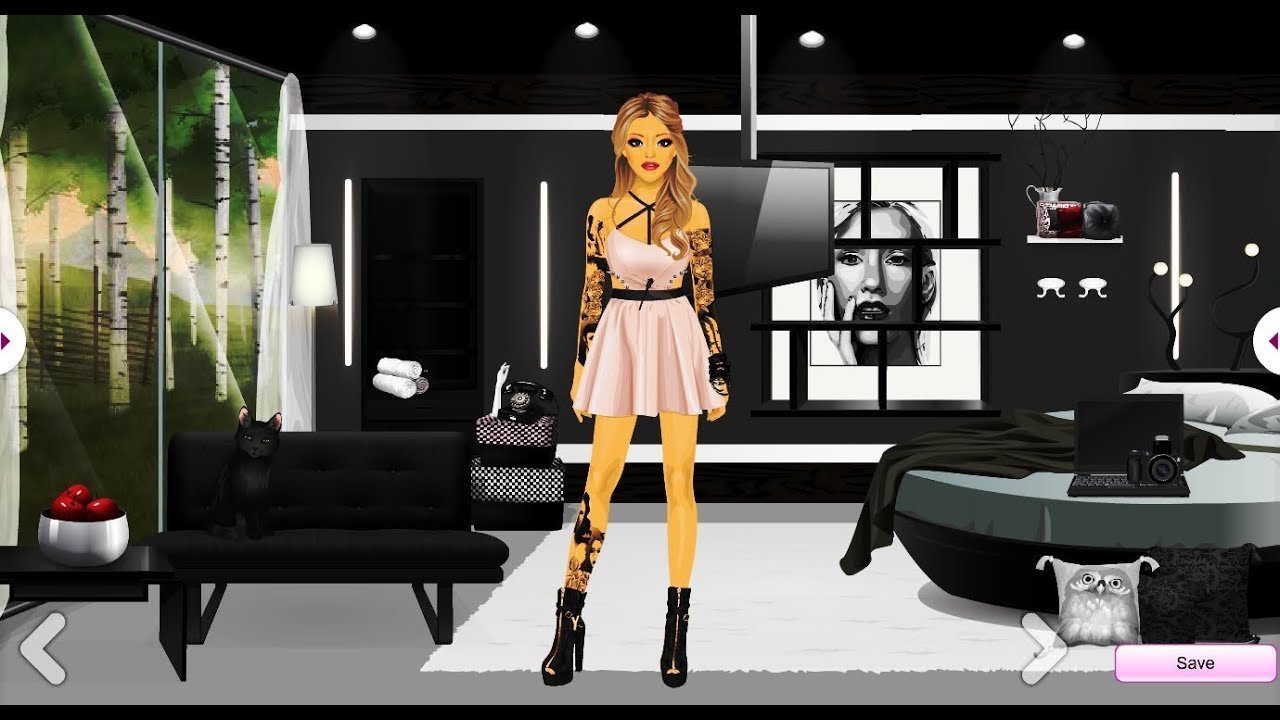 Stardoll Grey Bedroom Alw1234 Youtube