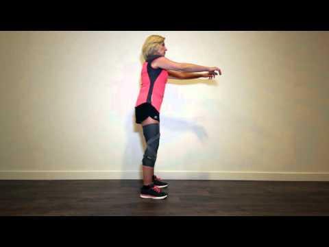 Knee Osteoarthritis Exercise 7/8: Half squat