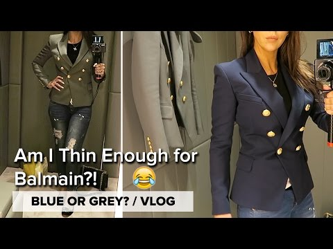 VLOG // Still want this Balmain Blazer! / Coping with Spiders in Autumn