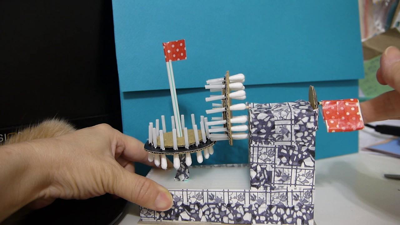 【齒輪DIY】棉花棒自製齒輪組 - YouTube