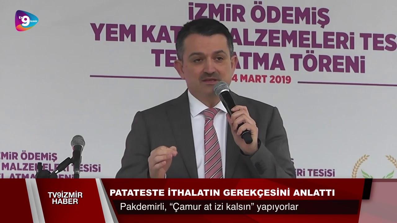 PATATESTE İTHALATIN GEREKÇESİNİ ANLATTI.
