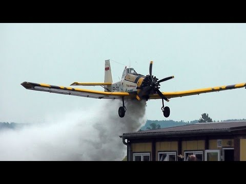 PZL M18B Dromader Firefighting Aircraft - Dangerous Low Water Bombing!