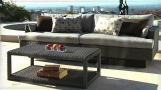 Portofino Signature 2-piece Sofa Sectional And Coffee Table In Weathered Gray