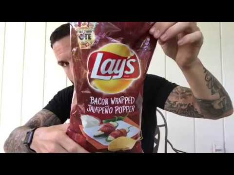 Lays Bacon Wrapped Jalapeno Popper Potato Chips Review Doovi