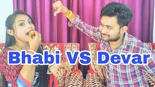 Golgappa Eating Challenge - Bhabi V/S Devar