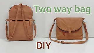 DIY Two way bag/Two way bag tu…