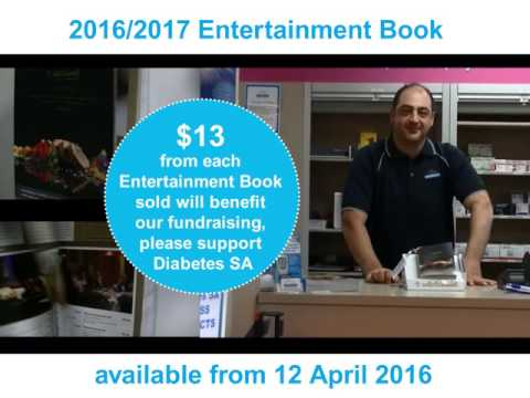 2016/2017 Entertainment Book available at Diabetes SA