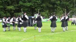 Portavogie Pipe Band @ Glenarm 2015