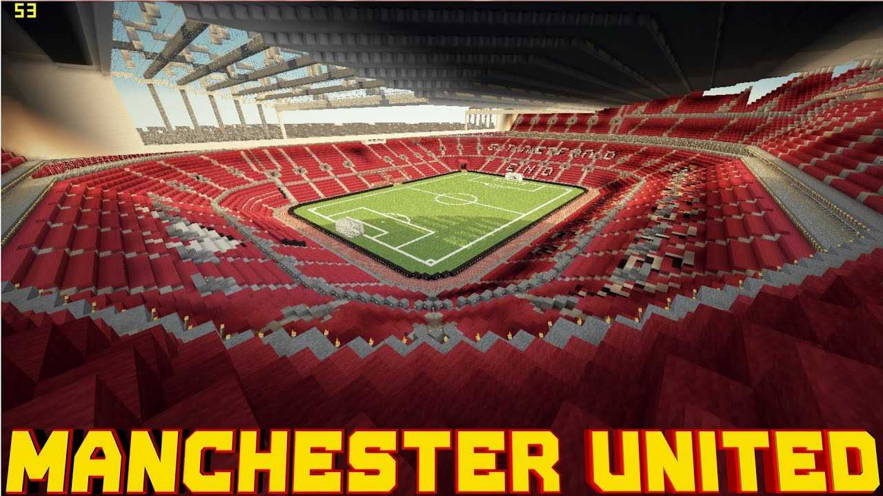 Wallpaper Manchester United Hd Minecraft Pe Manchester United Stadium Download Youtube