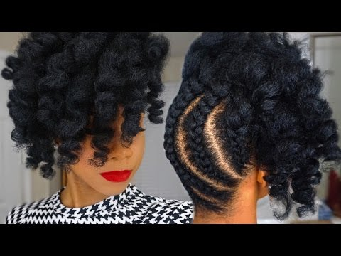 Pineapple Updo on Kinky Natural Hair