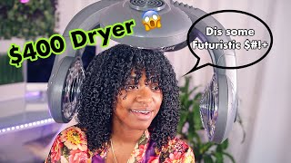 My $400 Infrared Hair Dryer Unboxing/Review| Best Hair Dryer for NATURAL HAIR??