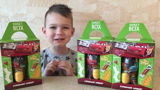 ВМ: Открываем Сладкие наборы Дисней Пиксар Тачки | Unboxing Sweet Box Disney Pixar Cars