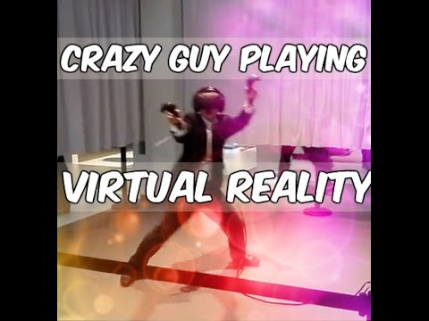 Funny VR Reaction Moments (Crazy Guy Playing HTC Vive)
