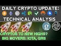 CRYPTOS TO NEW HIGHS? IOTA & GRS UP OVER 20% (12/3/17) Daily Update + Technical Analysis