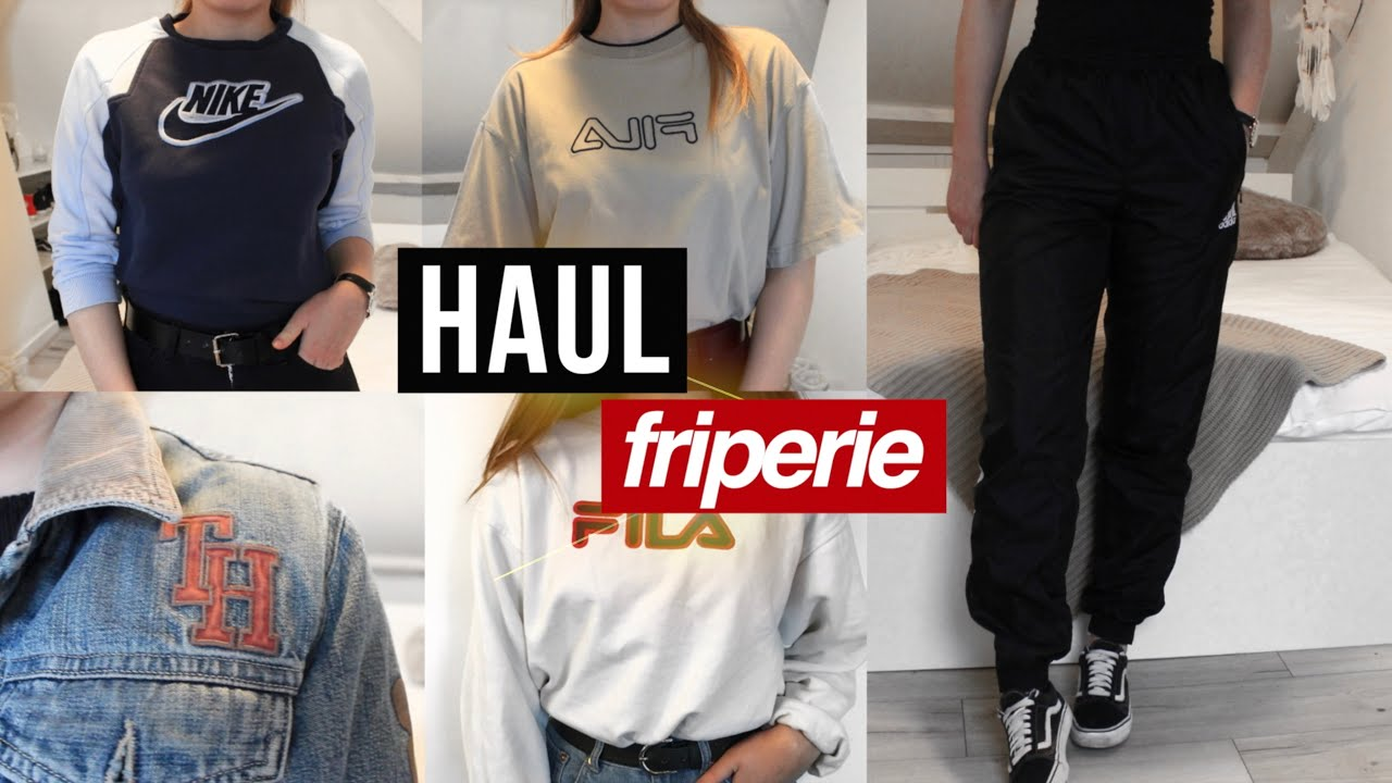 HAUL FRIPERIE (CK, nike, fila, Tommy Hilfiger, adidas...) + try-on