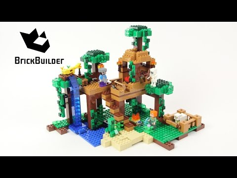 Lego Minecraft 21125 The Jungle Tree House - Lego Speed Build