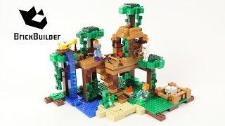 Lego Minecraft 21125 The Jungle Tree House - Lego Speed Build