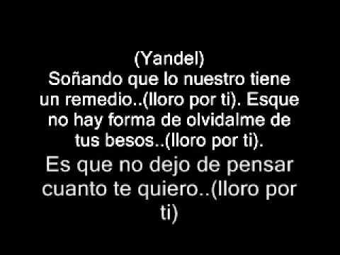 wisin y yandel ft enrique iglesias lloro por ti con letras