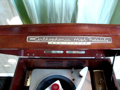 1957 Rca Victor Shf 8 Record Player Phonograph The Doobie