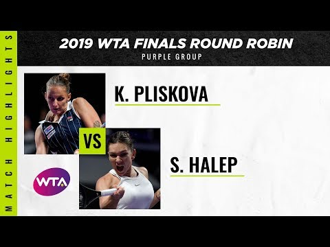 Karolina Pliskova Vs. Simona Halep | 2019 WTA Finals | WTA Highlights