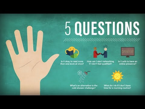 5 Questions: Networking Without Experience, Cold Showers, and Morning Routines