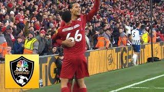Virgil van Dijk's second goal puts Liverpool 2-0 up | Premier League | NBC Sports