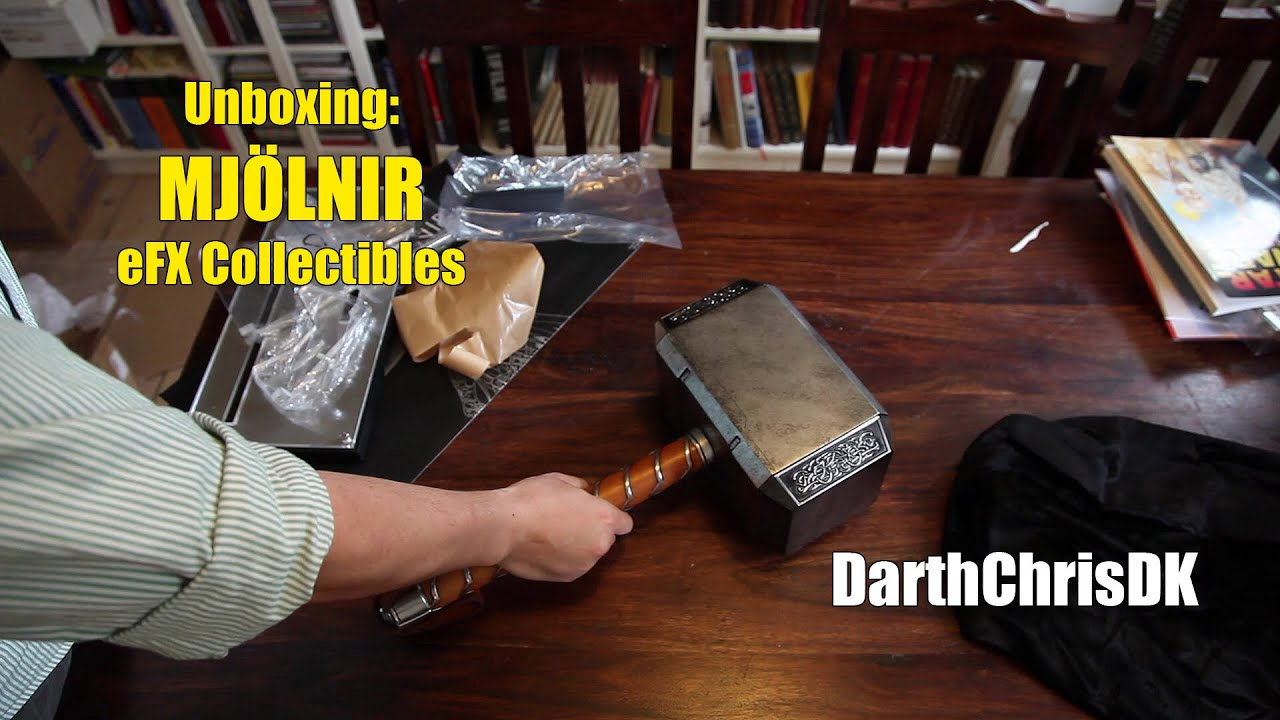 unboxing thor mjölnir official prop replica efx collectibles youtube