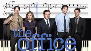 The Office Theme - EASY Piano Tutorial + SHEETS
