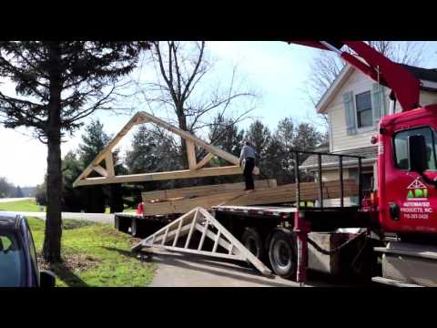 Ben's Solar Garage: Truss Delivery