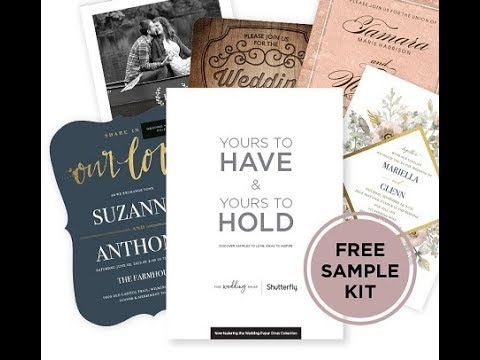 SHUTTERFLY WEDDING INVITATIONS SAMPLES KIT OPENING