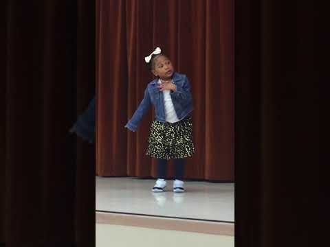 Witter Ranch Elementary School 2018 Talent Show - 5 year old A'vaeyah dances
